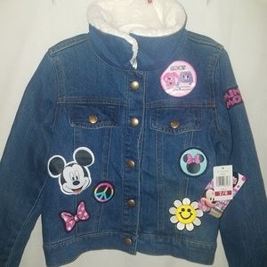 Disney Minnie Mouse Denim Jacket  Sz 7/8
